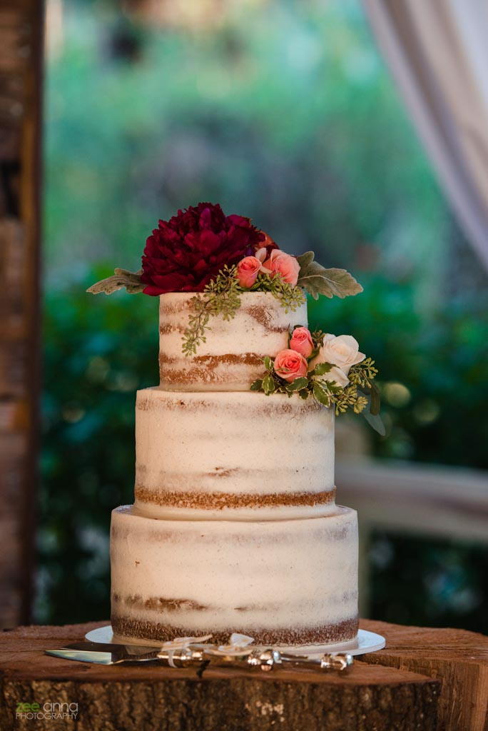 Wedding Flowers | Naked Cake | Wedding Flowers | Naked Cake | The Rustic Barn At Buckingham Farms