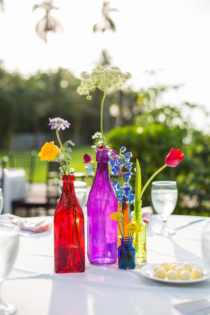 Summer Wedding Flowers | Centerpieces | Colorful