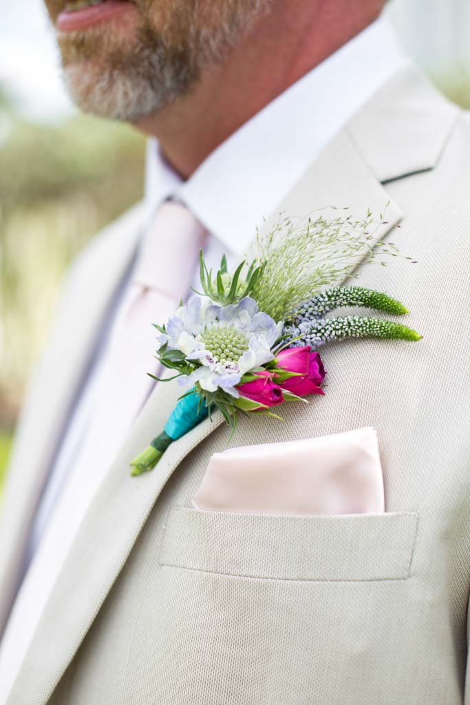 Wedding Flowers | Boutonnieres | Colorful