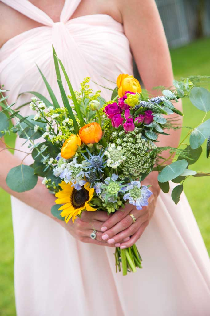 Wedding Flowers | Summer Bridal Bouquet | Sunflowers