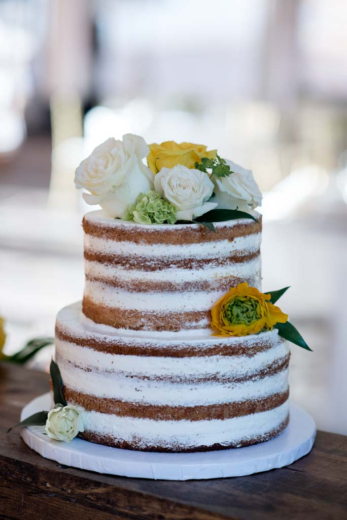 Wedding Flowers | Naked Cake