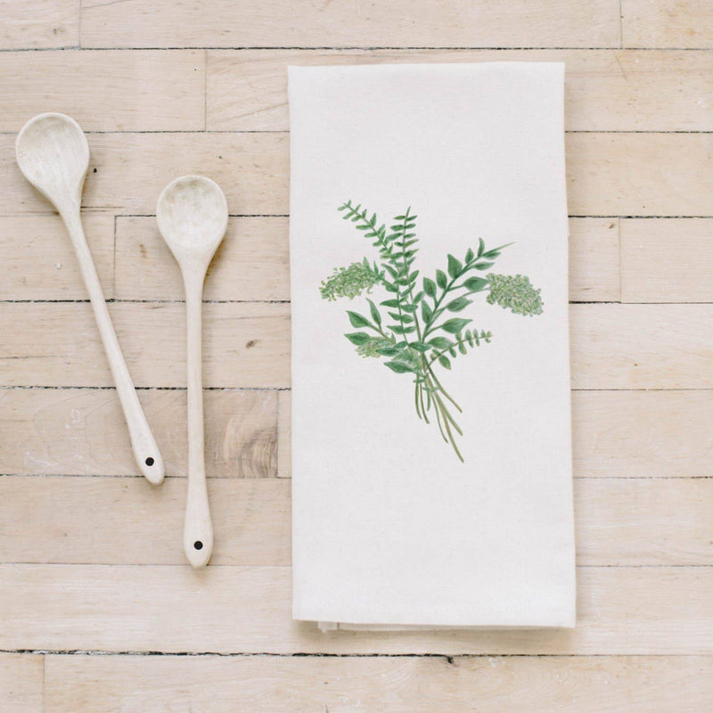 Tea Towel | Eucalyptus Bunch Watercolor Tea Towel