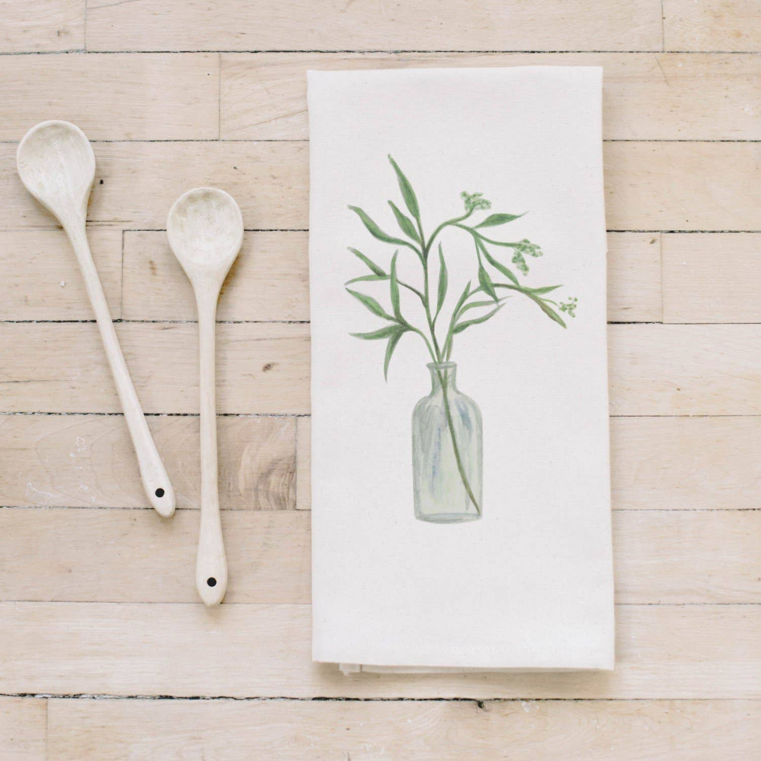 Tea Towel | Eucalyptus Vase Watercolor Tea Towel