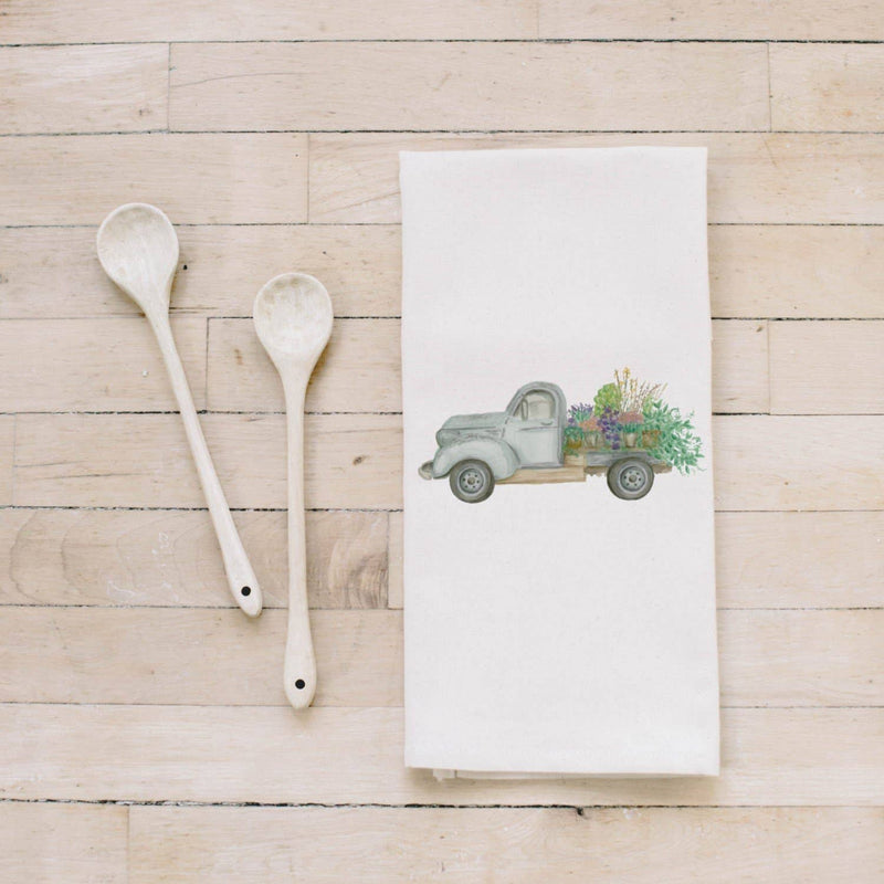 Tea Towel | Floral Truck Watercolor Tea Towel