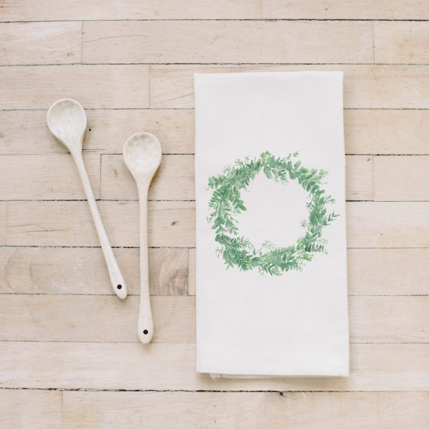 Tea Towel | Floral Wreath Watercolor