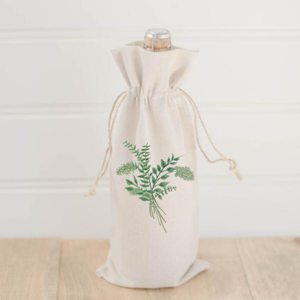 Wine Bag | Eucalyptus Bunch Watercolor