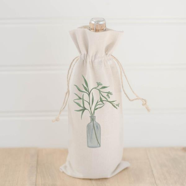 Wine Bag | Eucalyptus Vase Watercolor