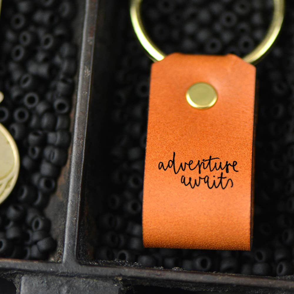 Leather Keychain | Adventure Awaits
