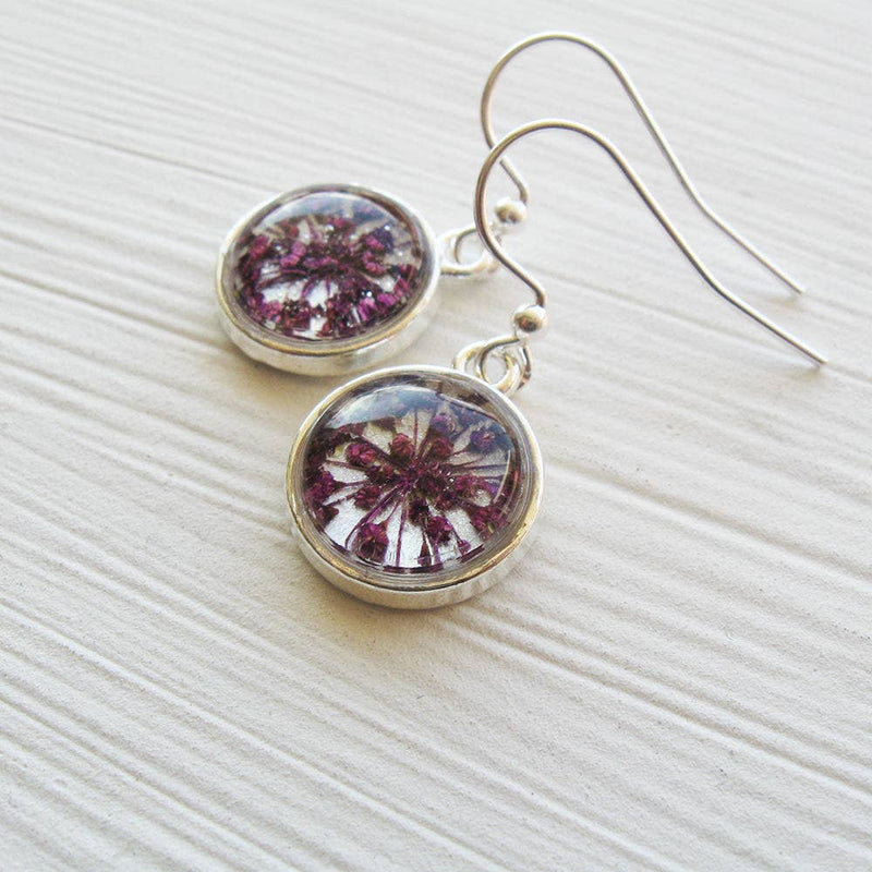 Earrings | Tiny Real Queen Annes Lace