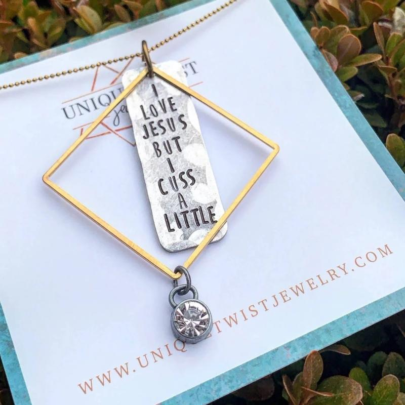 Necklace | I Love Jesus But I Cuss A little
