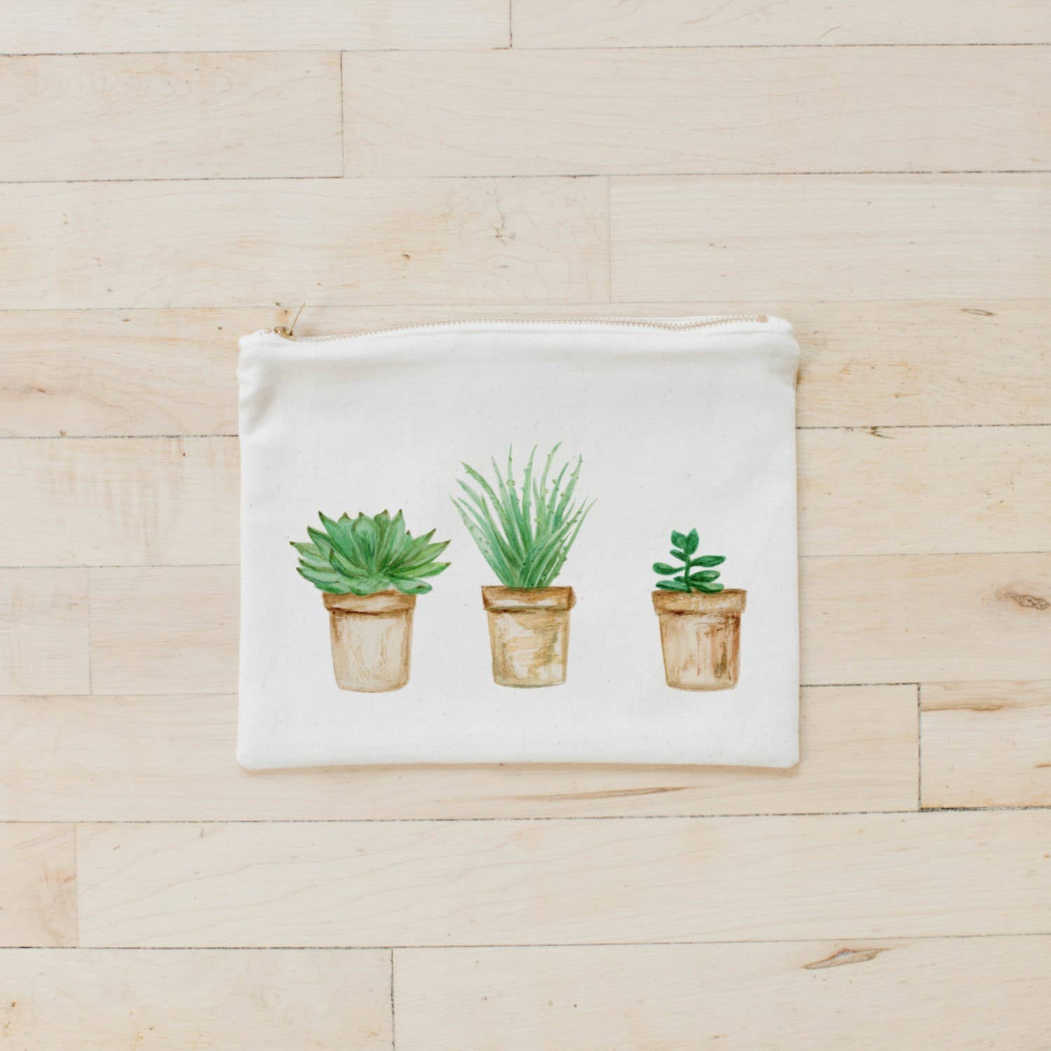 Cosmetic Bag | Succulent Pots Watercolor