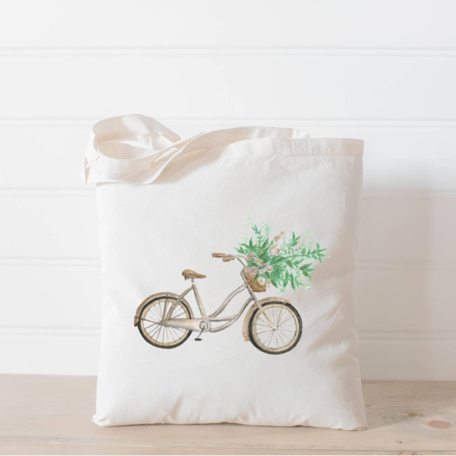 Tote Bag | Floral Bike Watercolor