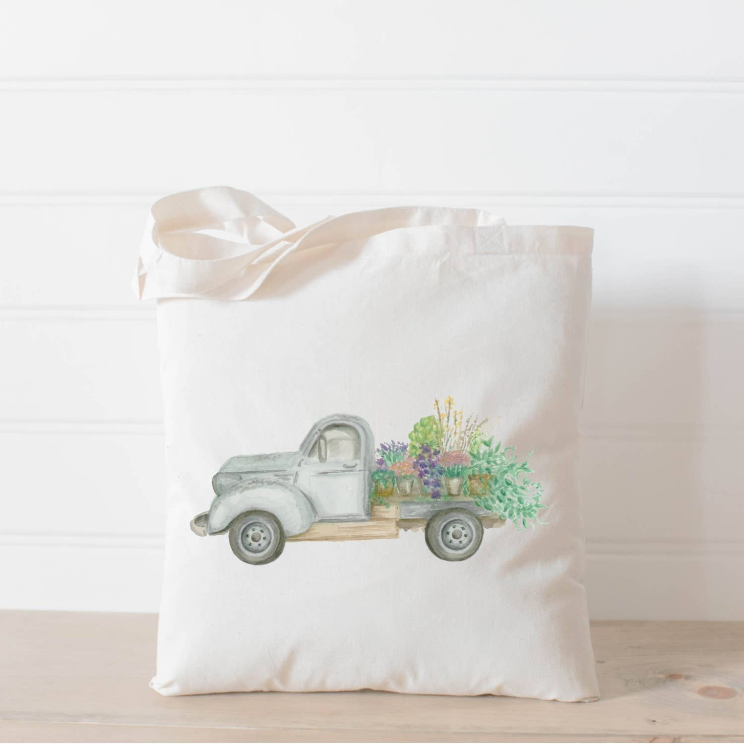 Tote Bag | Floral Truck Watercolor