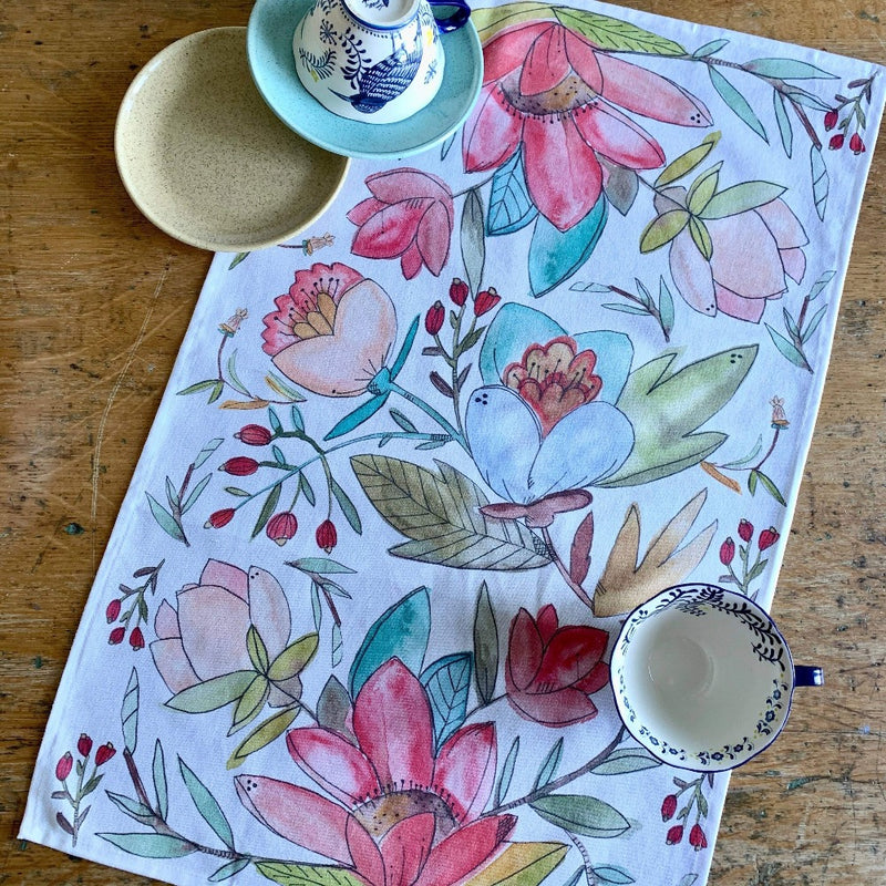 Watercolor Tea Towel