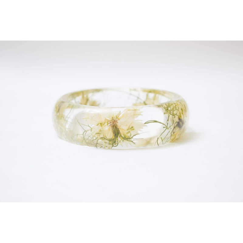Bracelet | Real White Pressed Flowers