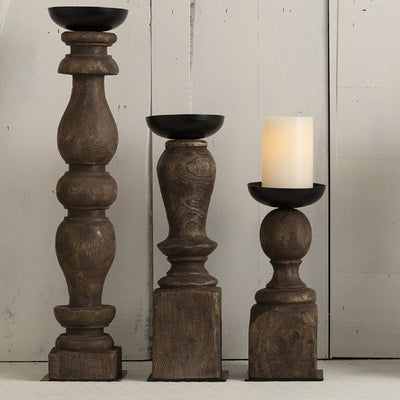 Wooden Candle Holder | Large