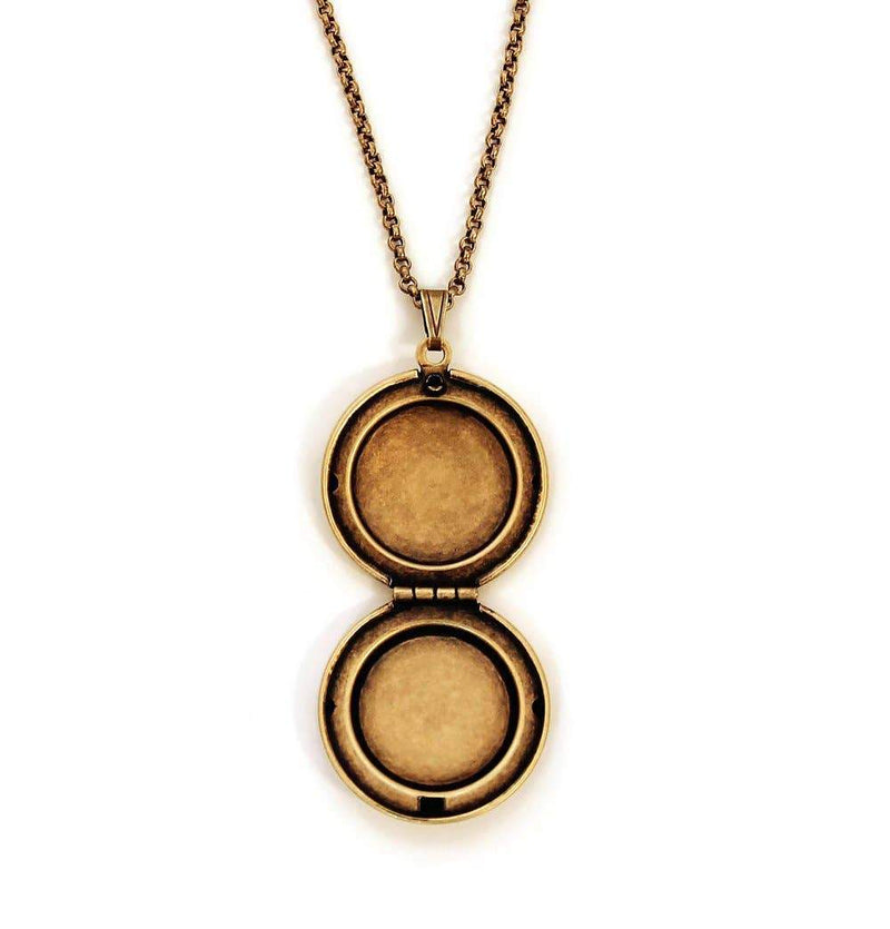 Photo Locket Necklace | Round Earth