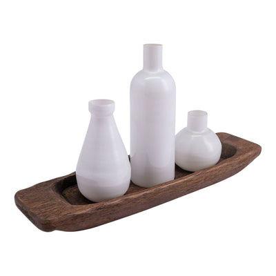 Opaque Vase | Set Of 3 With Tray