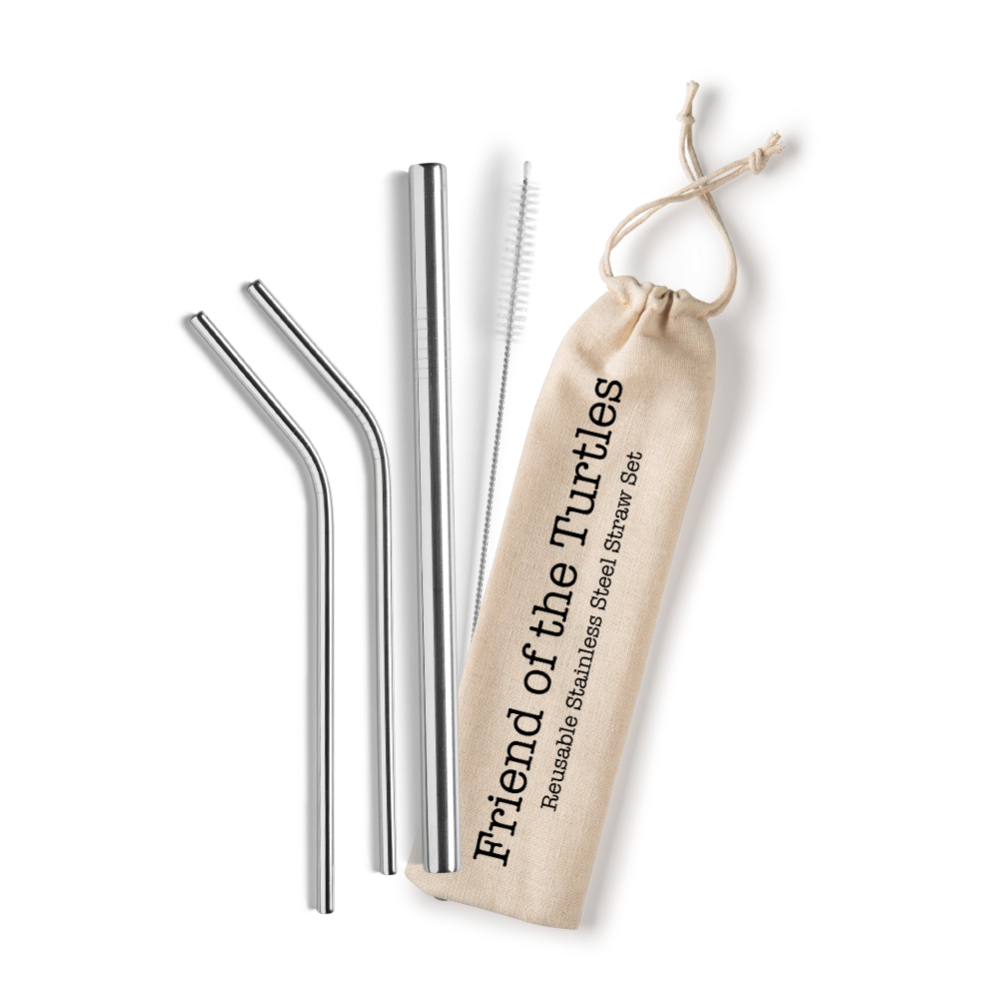 Reusable Stainless Straw Set | Friend of the Turtles