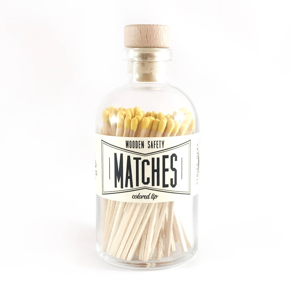 Yellow Vintage Apothecary Matches