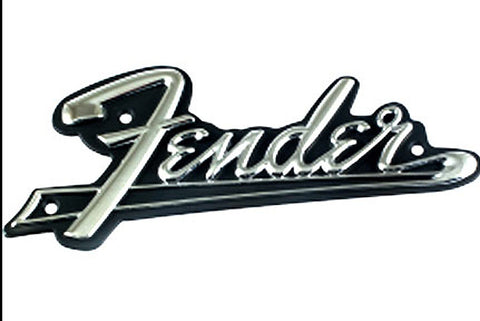 Fender Vintage Black face amp logo with tail