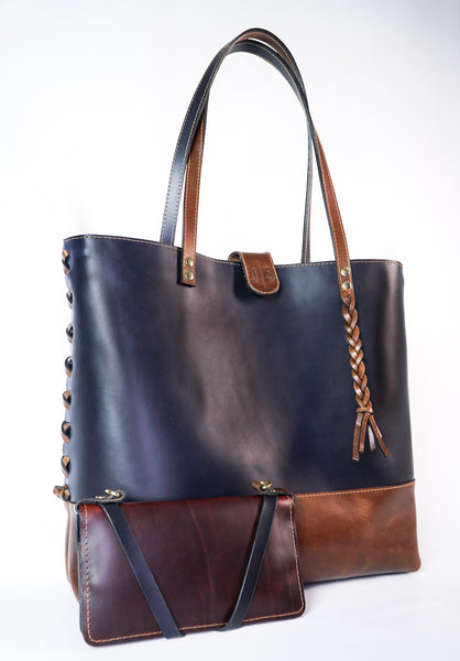 Braided Leather Handbag