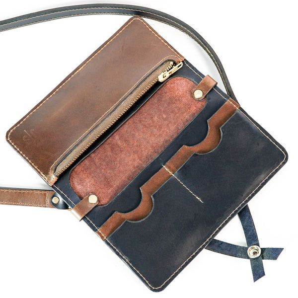 Leather Wallet and Crossbody