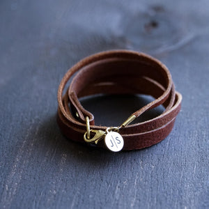 Leather Criss Cross Wrap Bracelet