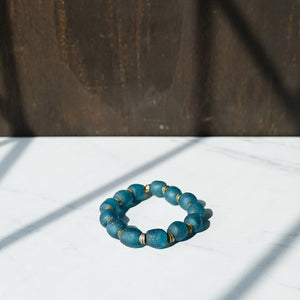 Sea Breeze Recycled Glass Bracelet