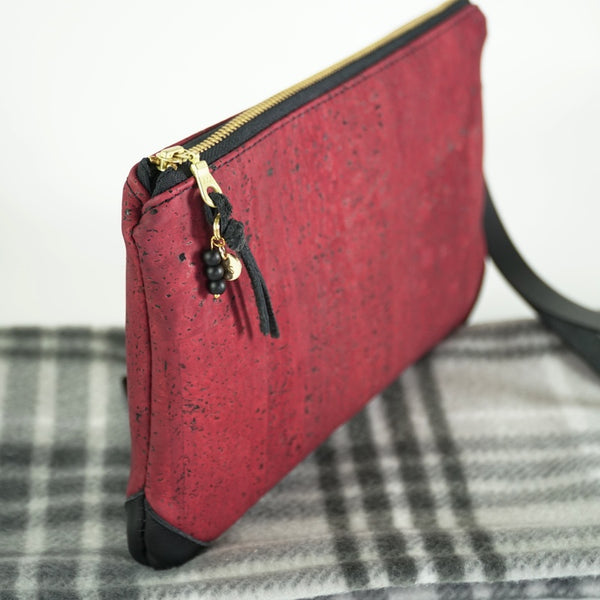 Cork + Leather Large Clutch