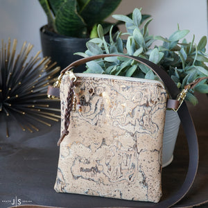 Cork + Leather Crossbody