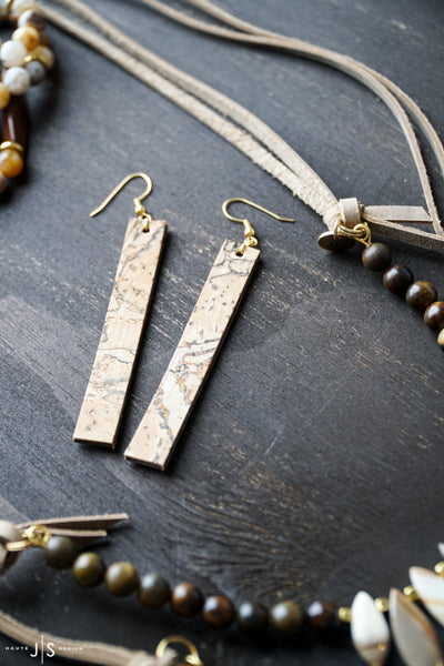 Earrings | Cork + Leather
