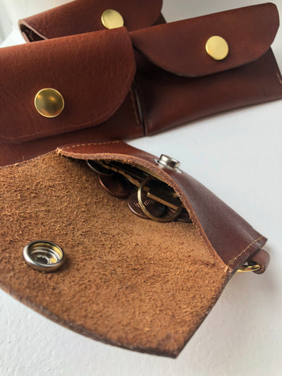 leather coin pouch keychain