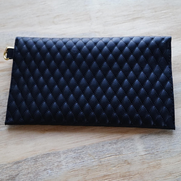 Quilted Leather Clutch