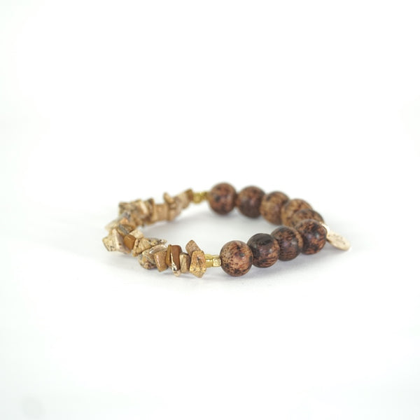 River Bed | Stone + Wood Bracelet