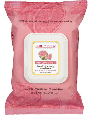 Facial Cleansing Towelettes Pink Grapefruit 30 Ct