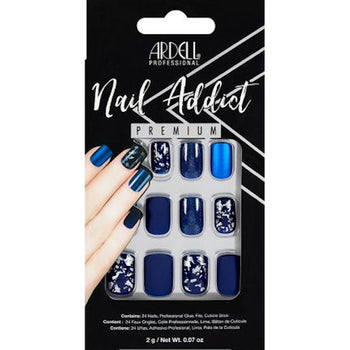 NAIL ADDICT PREMIUM ARTIFICIAL NAIL SET - MATTE BLUE