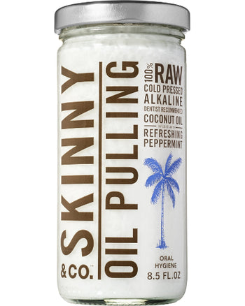 Oil Pulling Coconut Oil with Peppermint 4 oz