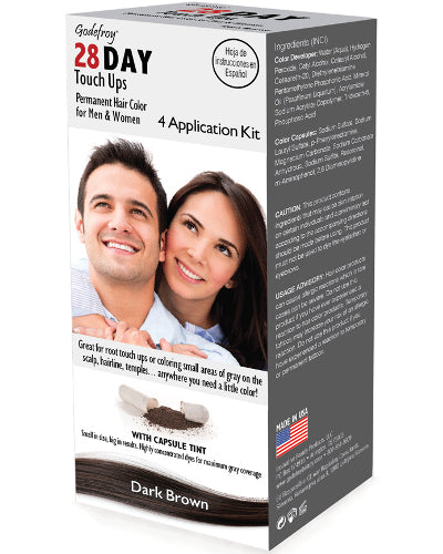 28 Day Touch Ups Dark Brown 4 Application Kit
