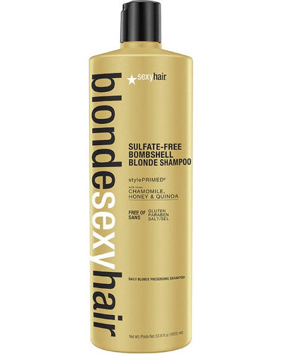 Blonde Sexy Hair Sulfate-Free Bombshell Blonde Shampoo Liter 33.8 oz