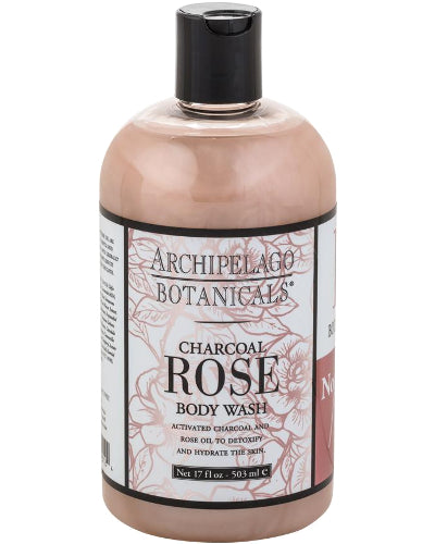 Charcoal Rose Body Wash 17 oz