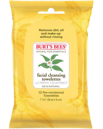 Facial Cleansing Towelettes White Tea Extract 10 Ct
