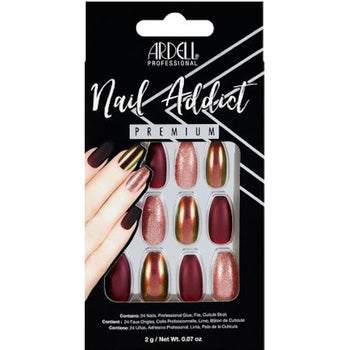 NAIL ADDICT PREMIUM ARTIFICIAL NAIL SET - RED CATEYE