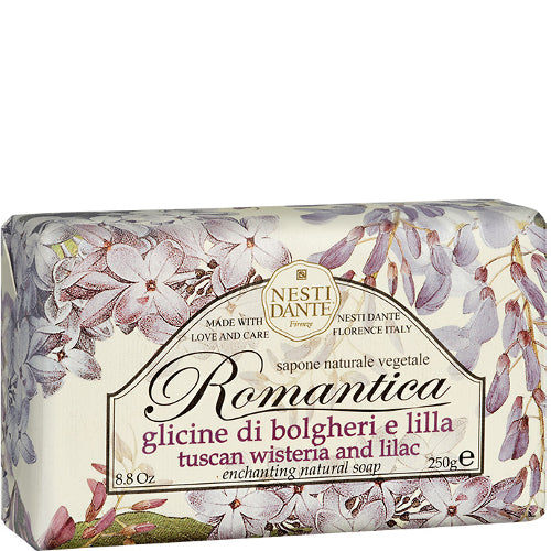 Romantica Tuscan Wisteria and Lilac Enchanting Natural Soap 8.8 oz