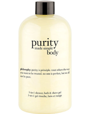 Purity Made Simple Body 3-in-1 Shower, Bath & Shave Gel 16 oz