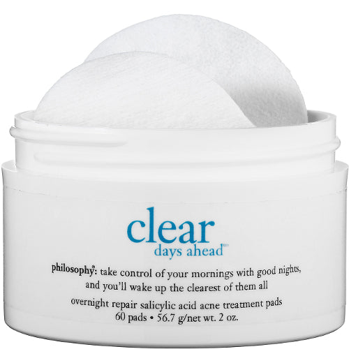 Clear Days Ahead Overnight Repair Salicylic Acid Acne Treatment Pads 60 Ct