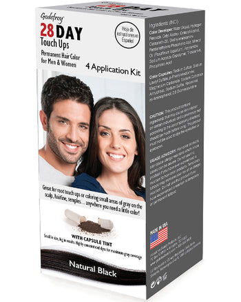 28 Day Touch Ups Natural Black 4 Application Kit