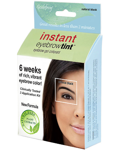 Instant Eyebrow Tint Natural Black 3 Application Kit