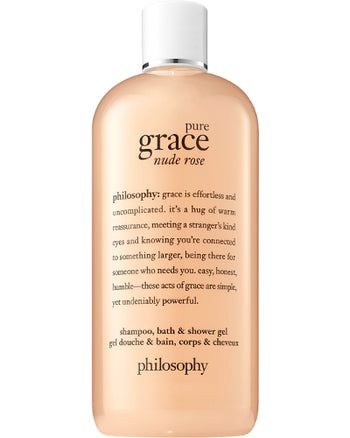 Pure Grace Nude Rose Shampoo, Bath & Shower Gel 16 ozz