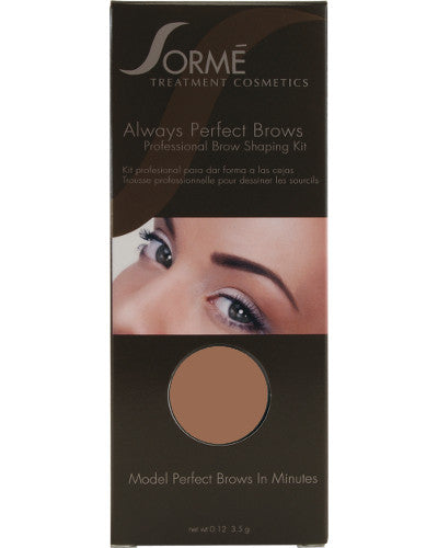 Always Perfect Brows Kit Medium Brown 0.12 oz